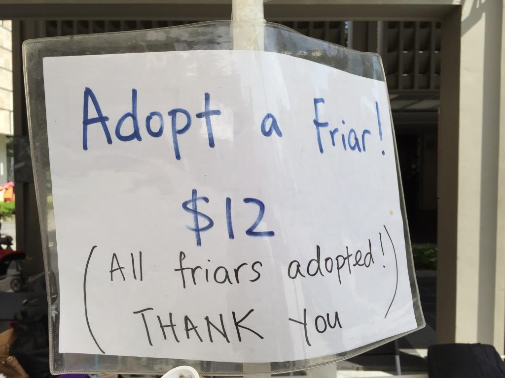 Adopt a (balloon) friar  was 100% successful! All (balloon) friars found a loving home