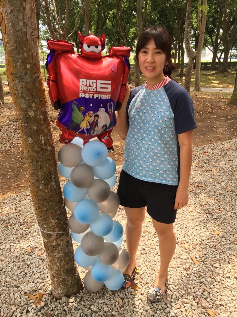 Baymax Balloon Column